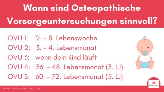 Osteopathische Vorsorgeuntersuchungen (OVU) für Kinder
