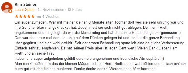 Stefan Rieth Bewertung von Kim-Steiner