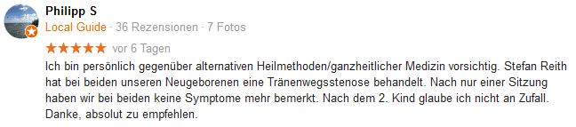 Stefan Rieth Google Bewertung von Philipp S.