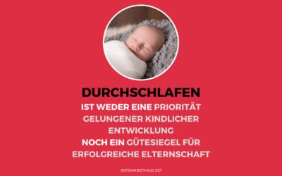 DURCHSCHLAFEN VON KINDERN (mind. unter 1 Jahr!)