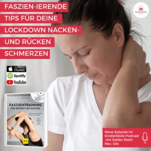 Faszien-iernde Tips für deine Lockdown Nacken-und Rückenschmerzen